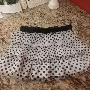 * Disney 2T Skirt Black White